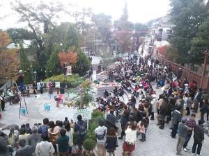 スタンプラリーの開催もあり、北野町広場はたくさんの人で賑わいました!